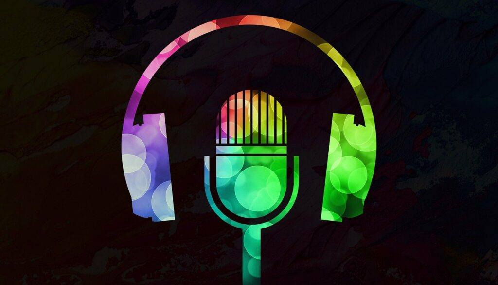 podcasting 101 - mic and headphones