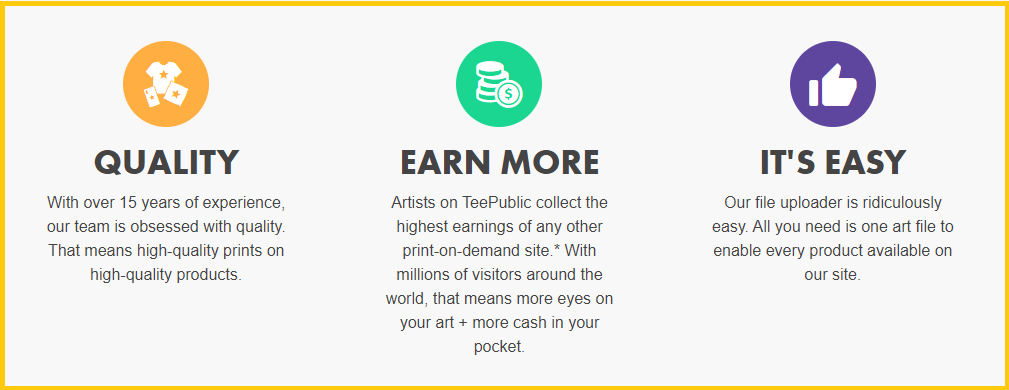 Is Teepublic a scam_teepublic_advantages_screenshot