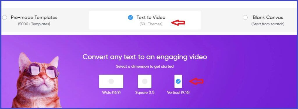 How_to_make_youtube_shorts_select_text_to_video